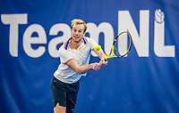 Amstelveen, Netherlands, 20  December, 2020, National Tennis Center, NTC, NK Indoor, National  Indoor Tennis Championships, Men's  Single Final   :  Botic van de Zandschulp (NED) <br /> Photo: Henk Koster/tennisimages.com
