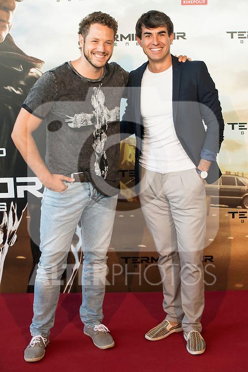 Actors Daniel Diges and Daniel Muriel attends to the premiere of Terminator Genesis at Kinepolis Cinema in Madrid, Spain. July 08, 2015.<br />  (ALTERPHOTOS/BorjaB.Hojas)