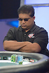Hand #43 - Victor Ramdin has the button and raises to $200,000. Alex Jacob moves all in from the big blind for $965,000 additional. Ramdin takes a few minutes before mucking his cards. Jacob rakes the pot.