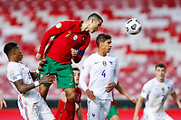 201115 -- LISBON, Nov. 15, 2020 -- Portugal s Cristiano Ronaldo Top heads for the ball to shoot during their UEFA Nations League football match in Lisbon, Portugal, Nov. 14, 2020. Photo by /Xinhua SPPORTUGAL-LISBON-FOOTBALL-UEFA NATIONS LEAGUE-PORTUGAL VS FRANCE DiogoxPinto PUBLICATIONxNOTxINxCHN <br /> Cristiano Ronaldo Nazionale Portogallo <br /> ITALY ONLY <br /> Photo Imago/Insidefoto