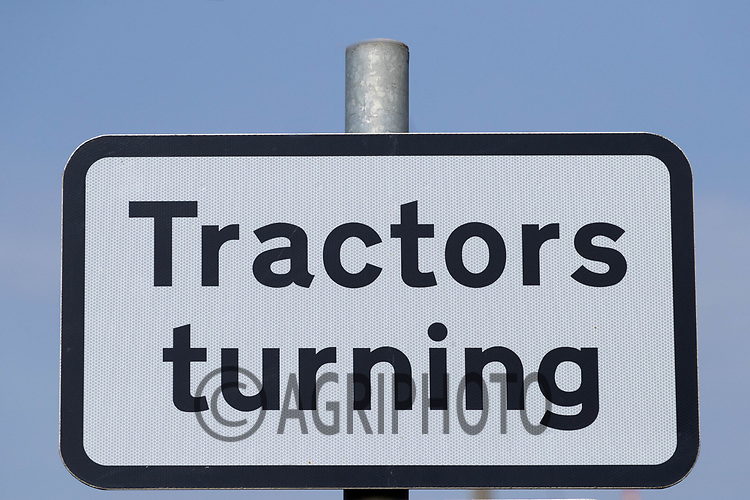 31-3-2021 Tractors Turning Sign<br /> ©Tim Scrivener Photographer 07850 303986<br />      ....Covering Agriculture In The UK....