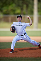 Alex Munroe during the WWBA World Championship at the Roger Dean Complex on October 20, 2018 in Jupiter, Florida.  Alex Munroe is a left handed pitcher from Davenport, Florida who attends Ridge Community High School and is committed to Miami.  (Mike Janes/Four Seam Images)
