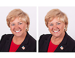 This is an example of before and after retouching on an headshot or executive portrait.