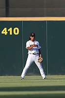 Jahmai Jones (19) of the Inland Empire 66ers in centerfield during  a game against against the Rancho Cucamonga Quakes at San Manuel Stadium on July 29, 2017 in San Bernardino, California. Inland Empire defeated Rancho Cucamonga, 6-4. (Larry Goren/Four Seam Images)