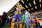 Notts County 0 Mansfield Town 0, 14/01/2017. Meadow Lane, League Two. The teams take to the pitch. Photo by Paul Thompson.