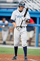 August 11, 2009:  Third Baseman Justin Bloxom of the Vermont Lake Monsters during a game at Dwyer Stadium in Batavia, NY.  The Lake Monsters are the Short-Season Class-A affiliate of the Washington Nationals.  Photo By Mike Janes/Four Seam Images