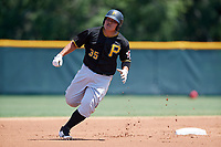 Pittsburgh Pirates Jin-De Jhang (35) during a Minor League Extended Spring Training game against the Philadelphia Phillies on May 3, 2018 at the Pirate City in Bradenton, Florida.  (Mike Janes/Four Seam Images)