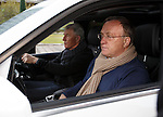 Dick Advocaat and Bert van Lingen arrive at the Hilton unaware that awards are on