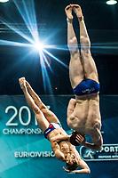 MARSAGLIA Lorenzo, AUBER Gabriele ITA<br /> 3m Synchronised Men Final<br /> LEN European Diving Championships 2017<br /> Sport Center LIKO, Kiev UKR<br /> Jun 12 - 18, 2017<br /> Day06 17-06-2017<br /> Photo © Giorgio Scala/Deepbluemedia/Insidefoto