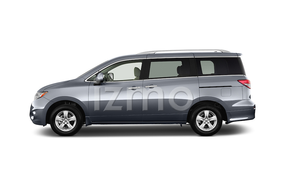 Car Driver side profile view of a2015 Nissan Quest SV 5 Door Minivan Side View