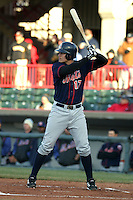 April 11, 2005:  Mike Jacobs of the Binghamton Mets during a game at Jerry Uht Park in Erie, PA.  Binghamton is the Eastern League Double-A affiliate of the New York Mets.  Photo by:  Mike Janes/Four Seam Images
