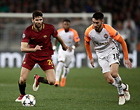 Football Soccer: UEFA Champions League  Round of 16 Second Leg, AS Roma vs FC Shakhtar Donetsk, Stadio Olimpico Rome, Italy, March 13, 2018. <br /> Roma's Federico Fazio (l) in action with Shakhtar Donetsk's Facundo Ferreyra (r) during the Uefa Champions League football soccer match between AS Roma and FC Shakhtar Donetsk at Rome's Olympic stadium, March 13, 2018.<br /> UPDATE IMAGES PRESS/Isabella Bonotto