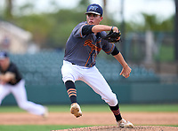 Lincoln Park Academy Greyhounds pitcher Matthew Pizzarello (2) during the 42nd Annual FACA All-Star Baseball Classic on June 6, 2021 at Joker Marchant Stadium in Lakeland, Florida.  (Mike Janes/Four Seam Images)