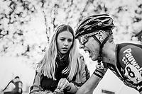Yannick Peeters (BEL/Pauwels Sauzen-Vastgoedservice) trying to catch his breath after finishing this grueling race<br /> <br /> U23 race<br /> Koppenbergcross / Belgium 2017