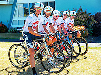 The Cobra9 Interbuild Racing team before stage three of the NZ Cycle Classic UCI Oceania Tour in Wairarapa, New Zealand on Tuesday, 24 January 2017. Photo: Dave Lintott / lintottphoto.co.nz