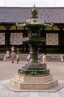 Nara: Horyuji,  Bronze Lantern in front of Lecture Hall. Photo '82.