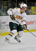 2 December 2011: University of Vermont Catamount defenseman Drew MacKenzie, a Senior from New Canaan, CT, in action against the University of Maine Black Bears at Gutterson Fieldhouse in Burlington, Vermont. The Catamounts fell to the Black Bears 6-4 in the first game of their 2-game Hockey East weekend series. Mandatory Credit: Ed Wolfstein Photo