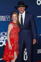"""HOLLYWOOD, LOS ANGELES, CA, USA - APRIL 29: Sarah Drew, Trace Adkins at the Los Angeles Premiere Of TriStar Pictures' """"Mom's Night Out"""" held at the TCL Chinese Theatre IMAX on April 29, 2014 in Hollywood, Los Angeles, California, United States. (Photo by Xavier Collin/Celebrity Monitor)"""