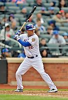 11 April 2012: New York Mets outfielder Scott Hairston at bat during game action against the Washington Nationals at Citi Field in Flushing, New York. The Nationals shut out the Mets 4-0 to take the rubber match of their 3-game series. Mandatory Credit: Ed Wolfstein Photo