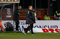 16th March 2021; Dens Park, Dundee, Scotland; Scottish Championship Football, Dundee FC versus Ayr United; Ayr United manager David Hopkin gives instructions to his team