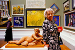 Royal Academy annual summer show art exhibition Burlington House London 1984, 1980s UK
