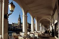 Deutschland, Hamburg, Alsterarkaden, Rathaus