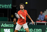 The Hague, The Netherlands, September 17, 2017,  Sportcampus , Davis Cup Netherlands - Chech Republic, Robin Haase (NED) <br /> Photo: Tennisimages/Henk Koster