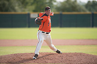 San Francisco Giants relief pitcher John Gavin (57) delivers a pitch to the plate during an Instructional League game against the Kansas City Royals at the Giants Training Complex on October 17, 2017 in Scottsdale, Arizona. (Zachary Lucy/Four Seam Images)