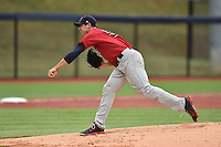 Elizabethton Twins starting pitcher Stephen Gonsalves #51 delivers a pitch during a game against the Johnson City Cardinals at Thomas Stadium July 8, 2014 in Johnson City, Tennessee. The Twins defeated the Cardinals 9-3. (Tony Farlow/Four Seam Images)