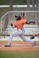 Houston Astros Luis Payano (9) during a Minor League Spring Training game against the St. Louis Cardinals on March 27, 2018 at the Roger Dean Stadium Complex in Jupiter, Florida.  (Mike Janes/Four Seam Images)