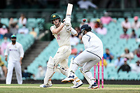8th January 2021; Sydney Cricket Ground, Sydney, New South Wales, Australia; International Test Cricket, Third Test Day Two, Australia versus India; Steve Smith of Australia pulls the ball down legside