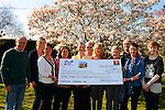 Gary Kelly centre Cheque