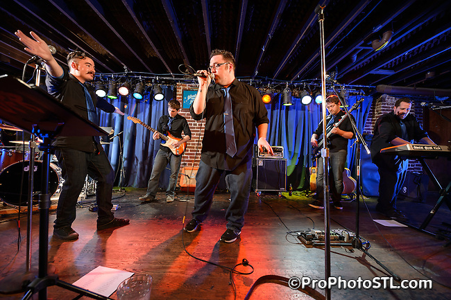 Dance Floor Riot CD release show in Duck Room of Blueberry Hill in St. Louis, MO on Jan 26, 2013.