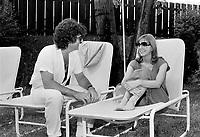 Renee Martel, Johnny Farago<br /> en 1981<br /> <br /> Photographe : Jacques Thibault<br /> <br /> - Agence Quebec Presse