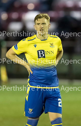 Kelty Hearts v St Johnstone…07.10.20   New Central Park  Betfred Cup<br />Liam Craig<br />Picture by Graeme Hart.<br />Copyright Perthshire Picture Agency<br />Tel: 01738 623350  Mobile: 07990 594431