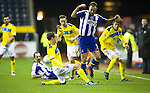 Kilmarnock v St Johnstone..24.11.12      SPL.David Robertson tackles Ryan O'Leary.Picture by Graeme Hart..Copyright Perthshire Picture Agency.Tel: 01738 623350  Mobile: 07990 594431