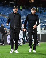 6th August 2020, Basel, Switzerland. UEFA National League football, Switzerland versus Germany;  Oliver Bierhoff (Manager) and trainer Marcus Sorg