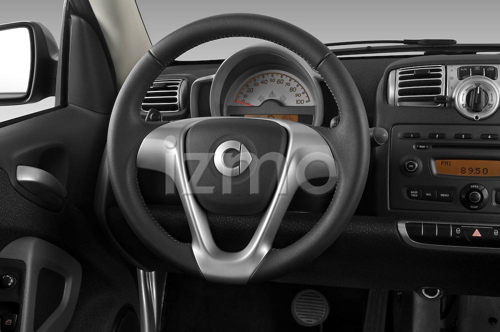Steering wheel view of a 2008 Smartfortwo