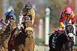 MIke Smith aboard Amazombie  Wins The Breeders' Cup Sprint (Grade I) at Churchill Downs in Louisville, KY  on 11/05/11. (Ryan Lasek / Eclipse Sportwire)