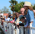 March 29, 2014: on Louisiana Derby Day at the Fairgrounds Race Course in New Orleans, LA. Mary M. Meek/ESW/CSM; Fans on rail for LA derby day