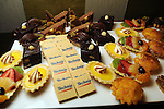 The dessert spread at the Technip reception at the Hotel Derek Tuesday May 1,2012. (Dave Rossman Photo)