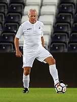 Alan Curtis of Swansea Legends in action during the Swansea Legends v Manchester United Legends at The Liberty Stadium, Swansea, Wales, UK. Wednesday 09 August 2017