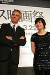 March 18, 2010 - Tokyo, Japan - Directors Laurent Cantet (L) and Catherine Corsini (R) attend the French Film Festival 2010 Opening Ceremony at Roppongi Hills on March 18, 2010 in Tokyo, Japan. (Laurent Benchana/Nippon News)