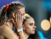 1st May 2021; Silesian Stadium, Chorzow, Poland; World Athletics Relays 2021. Day 1; Femke Bol of the Netherlands race slaps her face pre race