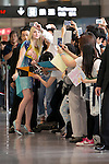 """Elle Fanning, Jun 21, 2014 : Tokyo, Japan : The actress Elle Fanning takes pictures with her fans at Narita International Airport in Chiba Prefecture, Japan, on June 21, 2014. Fanning comes to Japan for the first time to attend the Japan Premier of the movie """"Maleficent"""", which will be released on July 5th. (Photo by Rodrigo Reyes Marin/AFLO)"""