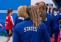 HARRISON, NJ - MARCH 08: Tobin Heath #17 of the United States leaves the field during a game between Spain and USWNT at Red Bull Arena on March 08, 2020 in Harrison, New Jersey.
