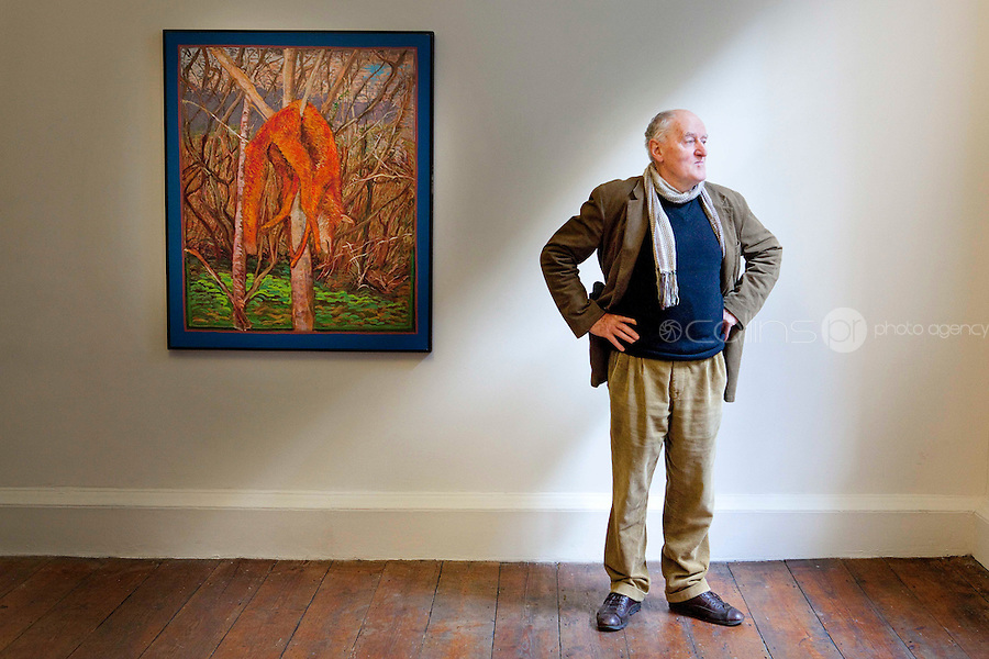 30/9/2010. Renowned Irish artist Brian Bourke is pictured at a photocall to celebrate the national launch of a book marking fifty years of his work in the Taylor Galleries , 16 Kildare Street , Dublin 2 Picture James Horan/Collins Photos