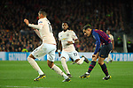 UEFA Champions League 2018/2019.<br /> Quarter-finals 2nd leg.<br /> FC Barcelona vs Manchester United: 3-0.<br /> Chris Smailling, Fred & Philippe Coutinho.