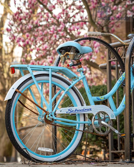 April 13, 2020; Bike near LaFortune (Photo by Matt Cashore/University of Notre Dame)
