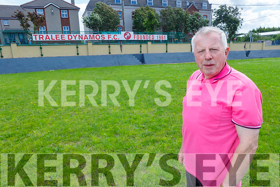 Tralee Dynamo's legend TC Counihan standing on the Low Field